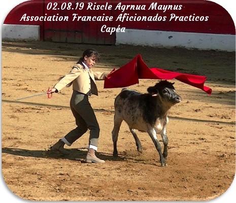 02 08 19 riscle agrnua maynus association francaise aficionados practicos capea