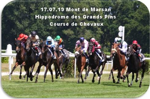 17 07 19 mont de marsan hippordome des grands pins course plate de chevaux
