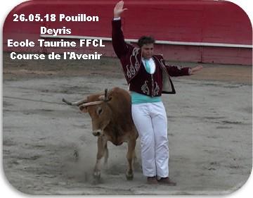 26 05 18 pouillon deyris ecole taurine ffcl course de l avenir